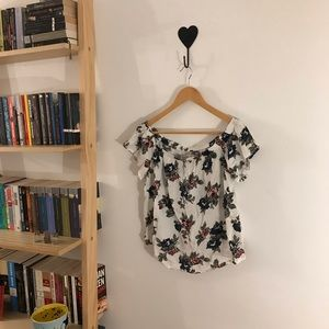 Abercrombie & Fitch Off-the-Shoulder Floral Shirt